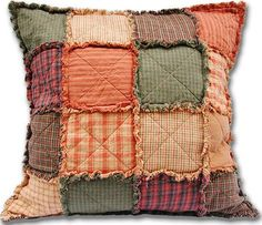 A 'Rag' pillow top design that will go with that 'Rag' quilt it made. Cool.