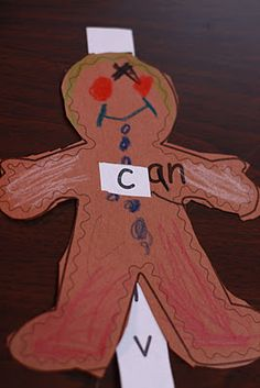 Fairy Dust Teaching Kindergarten Blog: Gingerbread Man Word Family Slider