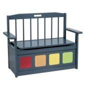 Banc coffre gris et multicolore