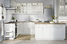 IKEA offers everything from living room furniture to mattresses and bedroom furniture so that you can design your life at home. Check out our furniture and home furnishings! Kitchen Tops, Granite Kitchen, Buy Kitchen, Kitchen Countertops, Kitchen Dining, Kitchen Decor, Kitchen Cabinets, Kitchen White, White Cabinets