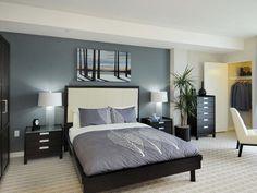 enchanting modern bedroom design in slate gray interior palette