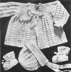 Alice Fowler Crocheted Baby Set # 1181