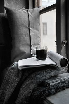 The Perfect way to relax, curling up with a cup of tea and a great book!