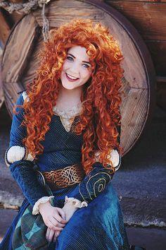 Merida Disney, Brave Disney, Walt Disney, Pretty Redhead, Redhead Girl, Disney Cosplay, Disney Costumes, Beautiful Red Hair, Beautiful People