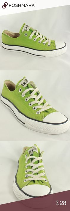 CONVERSE Chuck Taylor Oxford Piquant Green Sneaker Beautiful piquant green canvas, clean insole, excellent condition sole. Classic Converse style in a rare color no longer made. Size 6 MEN Size 8 WOMEN Converse Shoes Sneakers