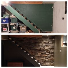Use Pallets To Update A Cinder Block Wall And Add Interest
