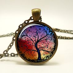 Tree Necklace, Bronze Tree Of Life Necklace Pendant Charm, Woodland Jewelry (0630B1IN) on Etsy, $15.59 CAD