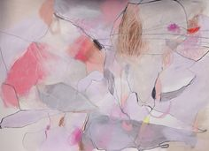 Jenny Andrews Anderson | Fresh Sighs | 22 x 30 acrylic, pastel and ink original painting on paper.