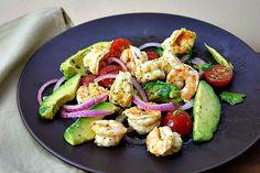 Grilled Shrimp Salad with Avocado and Orange Dressing