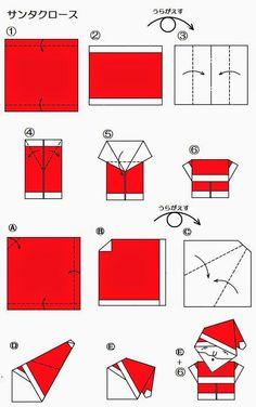 Santa claus craft fair christmas origami, origami и diy origami. Instruções Origami, Origami And Kirigami, Santa Origami, Origami Ideas, Origami Folding, Origami Stars, Dollar Origami, Origami Bookmark, Origami Flowers
