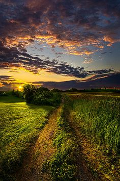 """""""Country Roads Take Me Home"""" Horizons by Phil Koch. Lives in Milwaukee, Wisconsin, USA. http://phil-koch.artistwebsites.com https://www.facebook.com/MyHorizons"""