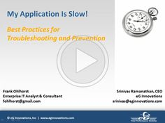 On-Demand Webinar: My Application is Slow: Best Practices for Troubleshooting and Prevention