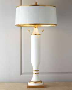 White-and-Gold Table Lamp at Horchow.
