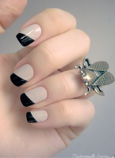 Chic twist on the classic French manicure