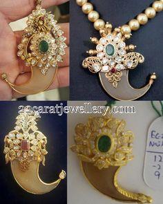 Jewellery Designs: Tiger Claw lockets by Surajbhan