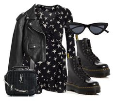 """Untitled #1023"" by jemappellejaime ❤ liked on Polyvore featuring Dr. Martens, Jean-Paul Gaultier and Yves Saint Laurent"