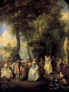 'The mill' by Nicolas Lancret (1690-1743, France)