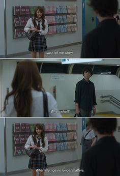 ― My Rainy Days Rio: Just tell me when. Kouki: When what? Rio: When my age no longer matters. Rainy Day Movies, Rainy Days, Mary Is Happy, Korean Words Learning, 500 Days Of Summer, Movie To Watch List, Korean Drama Quotes, Funny Videos For Kids, Salsa