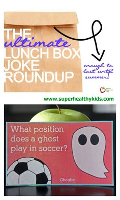 The Ultimate Lunchbox Joke Roundup. The Ultimate place to get lunch box jokes to pack in your kids lunches. These will definitely make their day! http://www.superhealthykids.com/ultimate-lunchbox-joke-roundup/