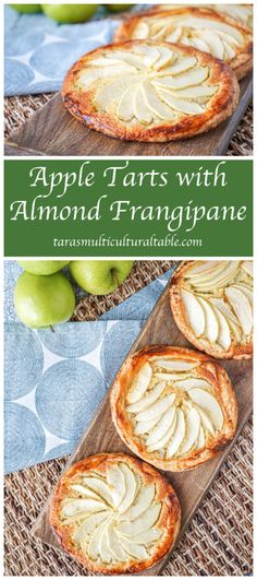 Almond Frangipane (Tarte aux Pommes avec sa Frangipane aux Amandes)- Tara's Multicultural Table- A recipe for Apple Tarts with Almond Frangipane (Tarte aux pommes avec sa frangipane aux amandes) from the cookbook, Let's Cook French!