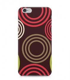 Red and Brown Round Abstract Seamless 3D Iphone Case for Iphone 3G/4/4g/4s/5/5s/6/6s/6s Plus - ABSTSEAM0088 - FavCases