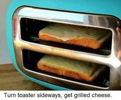 Instant cheese griller
