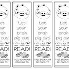 This is a sheet of four matching bookmarks.  I havent really gotten into the whole craze of Angry Birds, but I know lots of people who have.  Kids...
