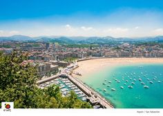 If you haven't been, the beautiful image of La Concha Beach in #Donostia will stay with you forever @i_Euskadi #spain pic.twitter.com/uFdBk52skW