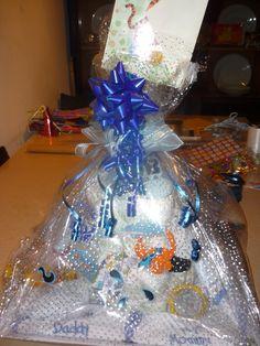 baby shower basket Baby Shower Baskets, Hanukkah, Wreaths, Design, Home Decor, Door Wreaths, Deco Mesh Wreaths, Interior Design, Design Comics