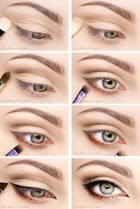 Cómo maquillar los ojos para el día. Fácil y elegante