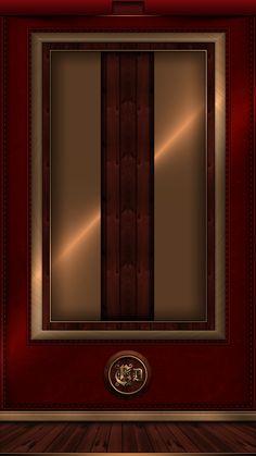 Sleek Gold Burgundy Wallpaper