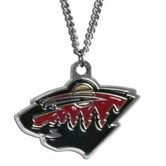 "Checkout our #LicensedGear products FREE SHIPPING + 10% OFF Coupon Code ""Official"" Minnesota Wild Chain Necklace - Officially licensed NHL product 22 inch chain necklace Spring ring clasp Perfect game day accessory Minnesota Wild charm with enameled team colors - Price: $15.00. Buy now at https://officiallylicensedgear.com/minnesota-wild-chain-necklace-hn145n"