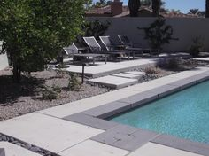 The two-toned coping really stands out in this photo. Palm Desert (Indian Ridge CC)