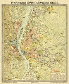 February The More Than Three Months Long Siege Of Budapest - Vintage budapest map