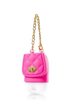 Bath & Body Works Pink PocketBac Holder | Keep germs at bay with an on-trend hot pink purse! This convenient holder attaches to your backpack, purse & more so you can always keep your favorite PocketBac close at hand.