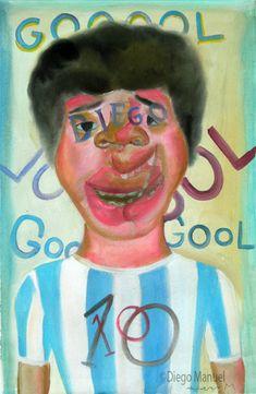 """ Diegoooool"", acrylic on canvas, 29 x 44 cm. 2005,"