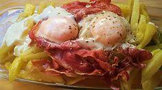 Cocinando con Lékué patatas con huevos y jamón