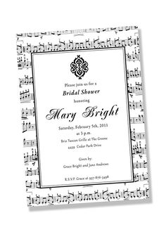 MUSICIAN Printable Party Invitation by GreenBeansieInk on Etsy, $16.00