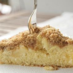 Apple cake with crunchy topping by myfoodpassion
