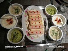 3 féle mártogatós krém Palak Paneer, Dairy, Cheese, Ethnic Recipes, Food, Eten, Meals, Diet