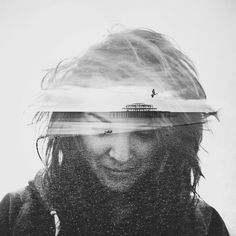 Double Exposure Portraits on Behance. Patrick Clairs inspiration for the True Detective Titles
