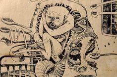 Dessin par l'artiste russe Foma Jaremtschuk qui vivait avec la schizophrénie