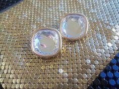 Pretty Vintage Swarovski Rhinestone Earrings by MartiniMermaid, $25.00