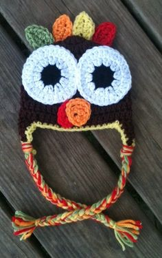 Baby Toddler Child Thanksgiving Crochet TURKEY Brown by shayahjane, $20.00