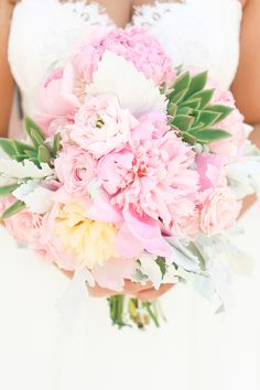 pink peony bouquet | photo by Cassandra Photo | 100 Layer Cake
