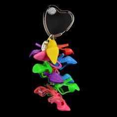 Barbi Doll Shoes Keychain And Jewelry