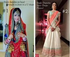 Dupatta draping styles for lehanga