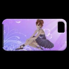 Red Hair Ballerina iPhone 5 Case (Vibe Case) $50.60
