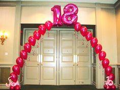 18th Birthday Balloon Arch 16 Balloons Party