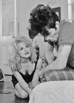 Ellen Barkin as Laurette and Tom Waits as Zack in 'Down By Law', 1986 directed by Jim Jarmusch.